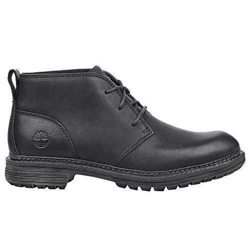 - Timberland Men's Logan Bay Chukka Boot, Black Full Grain Leather, 8.5 Medium US