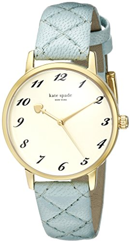 kate spade new york Women's 1YRU0786 Metro Analog Display Japanese Quartz Blue Watch