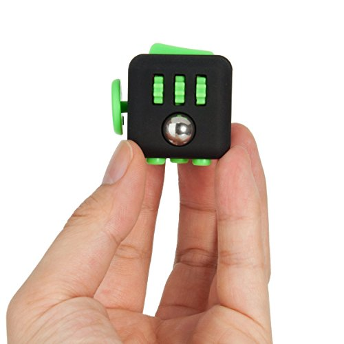 2 Pcs Fidget Dice II and Dice I 12 Sides Fidget Cube and Fidget cube - Stress Anxiety and Boredom Relief Weeambo Anti-anxiety and Depression Toys for Children and Adults (Black / black) - 2