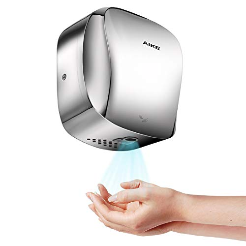 (AIKE AK2903 Heavy Duty Automatic Commercial Hand Dryer Stainless Steel with HEPA Filter,1450W(Polished))