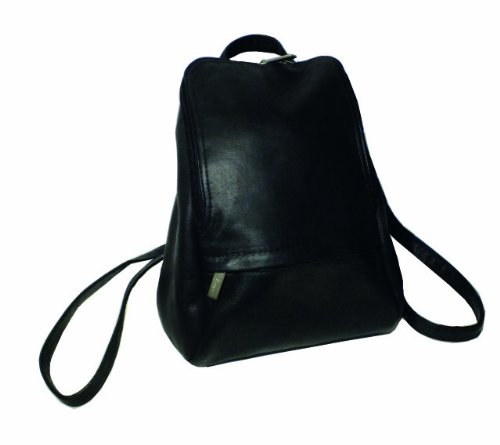 Royce Leather 10 Inch Tablet Colombian Leather Laptop Backpack, Black, One Size Royce Leather Leather Computer Case