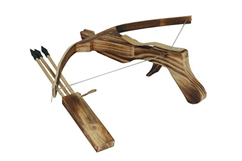 Wooden Crossbow Simulation Model Toy + Quiver + Arrows Wooden Archery Outdoor for Kid / Children