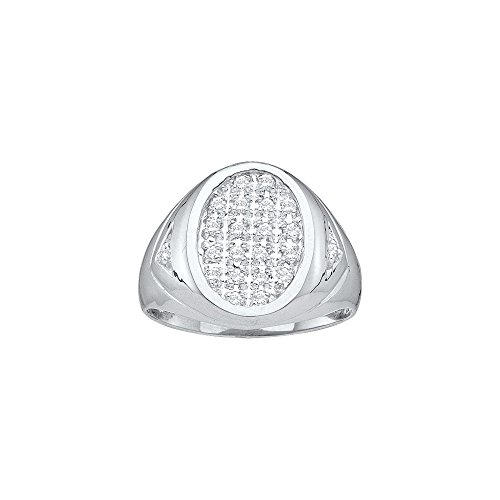 Oval Diamond Cluster Ring - 9
