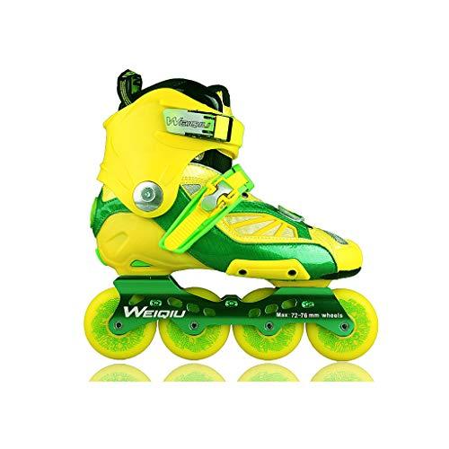 正確な実質的租界ailj インラインスケート、スケート、大人の男の子、ローラースケート、プロの多目的スケート(3色) (色 : イエロー いえろ゜, サイズ さいず : EU 44/US 11/UK 10/JP 27cm)