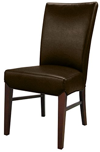 New Pacific Direct Milton Bonded Leather Chair,Brown Legs,Coffeen Bean,Set of 2 ()