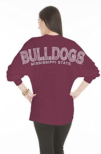 NCAA Mississippi State Bulldogs Women's Jade Long Sleeve Jersey, XX-Large, Maroon