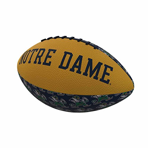 Logo Brands NCAA Notre Dame Fighting Irish Mini-Size Repeating Football, Multicolor, Miniature
