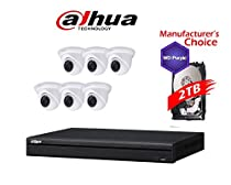 Dahua Branded 8CH IP Package: NVR42A08 w/2TB HDD + (6) 3MP HDW13A0SN IR 3.6MM Eyeball