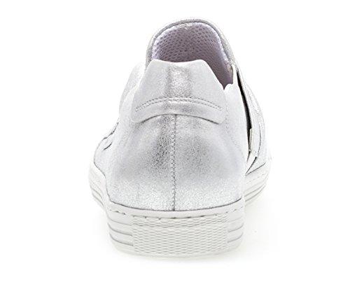 Formateur Acteur Womens Silk Chaussures Metallic Silver Les Sur Gabor Glisser De fF4wq40x