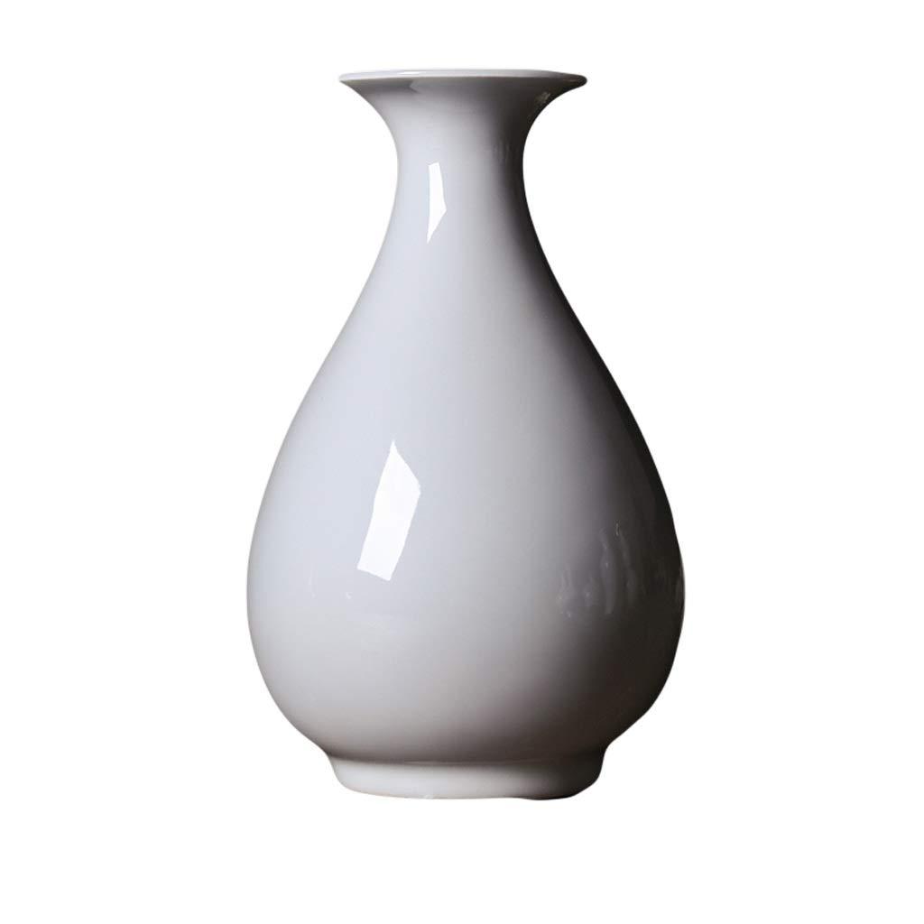 花瓶セラミック純白ドライフラワー花瓶フラワーアレンジメントテーブル現代のミニマリストの家の装飾新しい中国の装飾品 LQX (Size : M) B07SNQ2B3V  Medium
