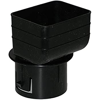 Plastic Universal Downspout To Drain Tile Adapter 4x6x4