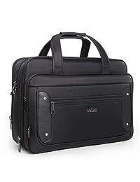 16/17/19 inch Laptop Bag, Business Travel Bag, Expandable Large Hybrid Shoulder Bag, Water Resisatant Business Messenger Briefcases for Men, Computer, Tablet-Black (17 Inch)