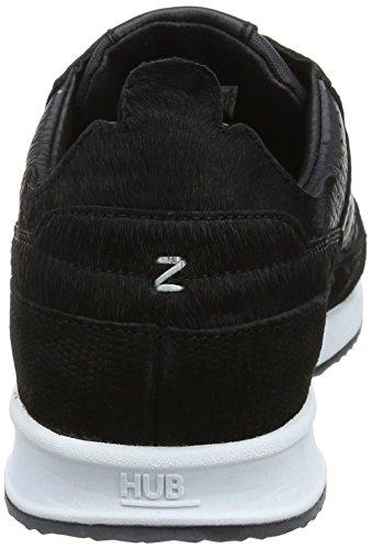 para Zapatillas 090 Hub W L57 Black Mujer Zone White Black Pony w Negro XUHaB