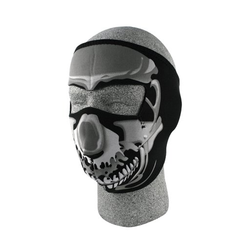 Zan Full Face Neoprene Mask Chrome Skull