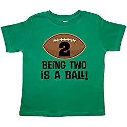inktastic - 2nd Birthday Football Sports Toddler T-Shirt 3T Kelly Green 26e16