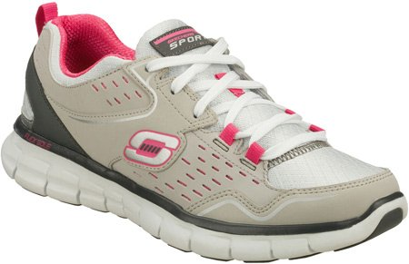 Skechers Sport Mujeres Synergy A Lister Fashion Sneaker Gris / Rosa