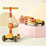 Scooter For Kids Ages 6-12 Toddler Scooter For Kids, 3 Wheel Kick Scooter,Lean To Steer Foldable Scooter Adjus