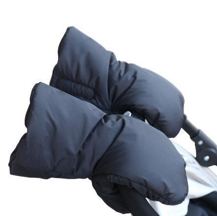 AZBABY Stroller Hand Muff, Extra Thick Winter Gloves for Parents and Caregivers, Black