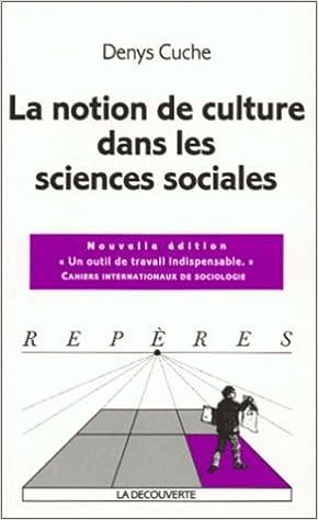 Livres La notion de culture dans les sciences sociales pdf