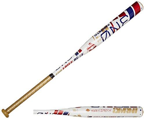 DeMarini 2015 the ONE Senior Enloaded Slowpitch Bat, White/Gold/Dark Red, 34 inch/26 oz by DeMarini