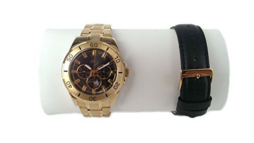 GUESS Men's Gold-Tone Multifunction Watch Set