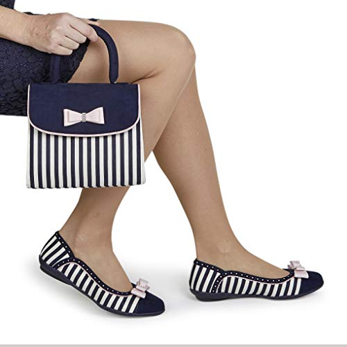 Donna Stripe Navy Shoo Ruby Balletto qHw4TWax8