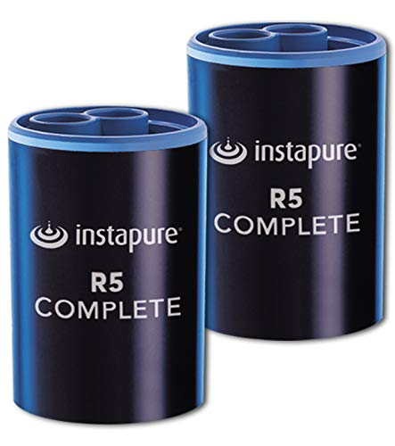 Instapure R5 COMPLETE Tap Water Filter (Twin Pack), Tested & Certified to ANSI/NSF 42 & 53 For the Reduction of Chlorine, Lead and Microbial Cysts, Fits Instapure F5 and F2 Systems