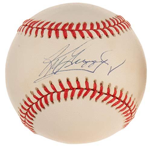 Glove Babe Ruth Vintage Baseball - KEN GRIFFEY JR SIGNED BOBBY BROWN VINTAGE OAL BASEBALL SEATTLE MARINERS REDS CHW