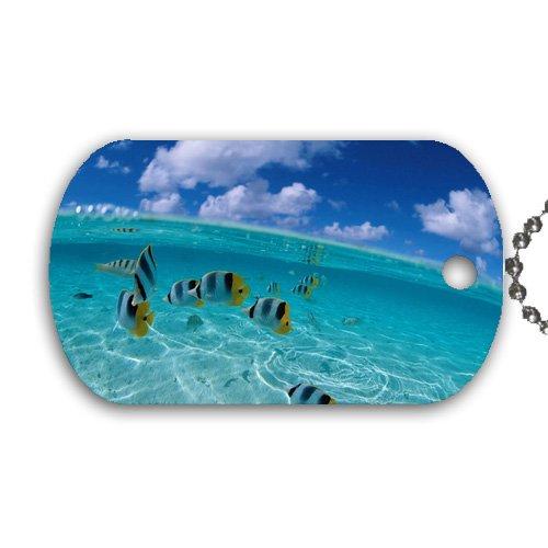 Tropical Fish Aquatic Marine Life Coral Reef Dog Tag with 30