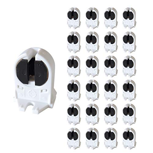 24 PCS 2A L005 T5 LED Fluorescent Tube Lamp Holder T5 Light Socket G5 Base Turn-Type Fluorescent Lamp Socket ()