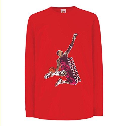 Camisetas de Manga Larga para Niño Sé el señor de la Gravedad, Baloncesto Freestyle Dunk - Me Encanta Este Juego (5-6...