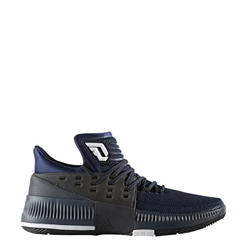 Adidas Mens Basketball Dame 3 Roots Shoes # Bb8337 Mystery Blue / Core Black / White