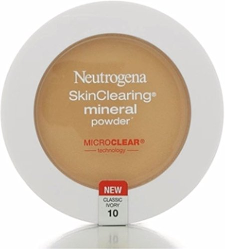 Neutrogena SkinClearing Mineral Powder, Classic Ivory [10], 0.38 oz (Pack of 3)