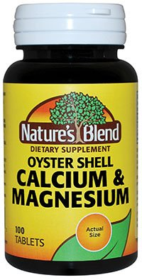 Nature's Blend Oyster Shell Calcium & Magnesium Tablets, 100 Count Per Bottle Review