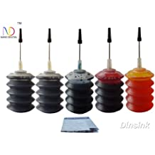 5x30ml Refill dye ink for HP27 and HP28 cartridges installed in HP Printer Deskjet 3320, 3322, 3420, 3425, FAX 1240 ...