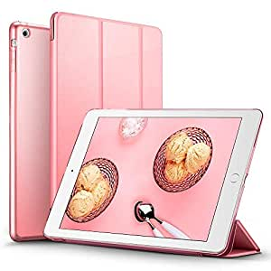 iPad Mini 2 Case, iPad Mini Smart Case Cover [Synthetic Leather] Translucent Frosted Back Magnetic Cover with Sleep/Wake Function [Light Weight] For iPad Mini 1/2/3 (Sweet Pink)