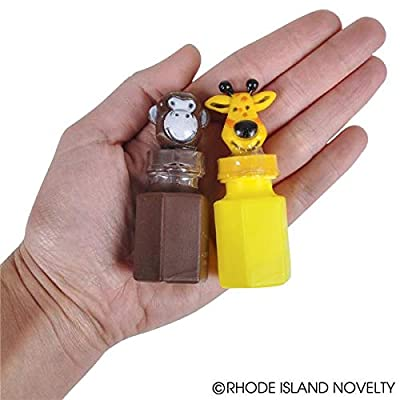 Rhode Island Novelty 0.6oz Zoo Animal Bubble Bottles, Two Dozen Bottles: Toys & Games