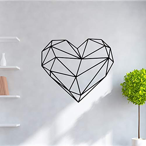 duyeidi Wall Stickers Art Decor Decals Beauty Geometry of The Heart Roll Furniture Decorative for Living Room Bedroom for Kids Rooms Home Decor (Gta Stores Furniture)