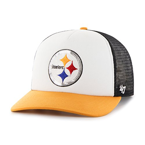 09a414ef144  47 NFL Pittsburgh Steelers Women s Glimmer Captain CF Strap Hat