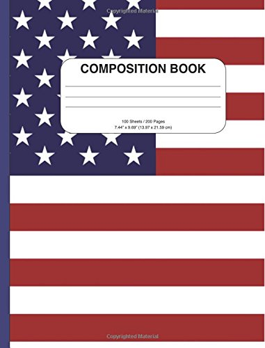 Download Inspirational American Flag Composition Notebook: College Ruled, 200+ Pages, Perfect for School or Work, as a Notebook, Diary, or Journal pdf