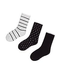 Mayoral Junior Boy's 3-pair Socks Set Black, Sizes 8-16