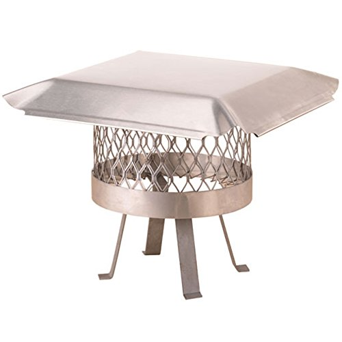 Draft King SS813U Round Slip In Stainless Steel Single Flue Chimney Cap with Legs Welded onto the Cap, 12