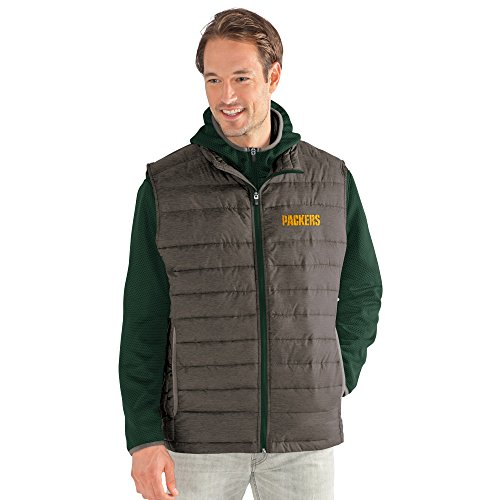 G-III Sports NFL Green Bay Packers Adult Men Cold Front 3-in-1 Systems Jacket, XX-Large, Green/Gray from G-III Sports