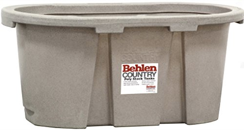 Tank Gallon Stock 100 (Behlen Country PRE224 100-Gallon Poly Stock Round-End Tank)