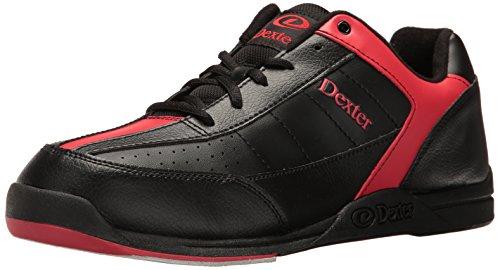 Dexter Ricky III - Scarpe da bowling da uomo, numero 45, colore: nero/rosso