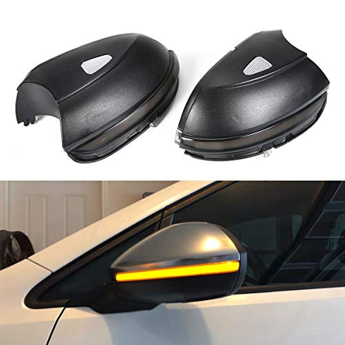 (Side Door Wing Mirror With Turn Signal, Umiwe Side Wing Mirror Signal Lamp Dynamic Turn Signal Light Side Rear Mirror Indicator Fit For VW(Passat/EOS/Beetle/Scirocco/Jetta) - Sturdy Side Mirror)