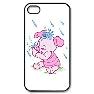 Designyourown Case Piglet Iphone 4 4s Cases Hard Case Cover the Back and Corners SKUiPhone4-2824 by icecream design