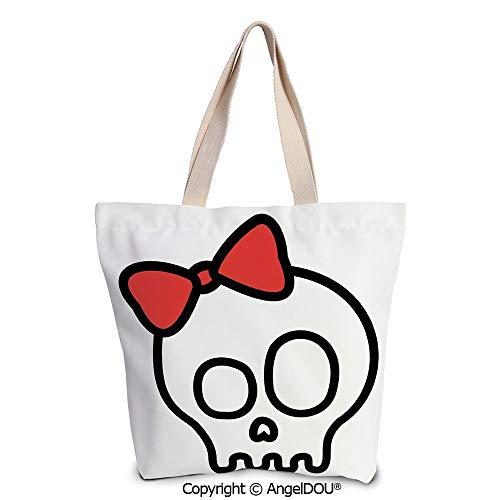 SCOXIXI Skull Reusable Eco-friendly Shopping Shoulder bag Illustration of Baby]()
