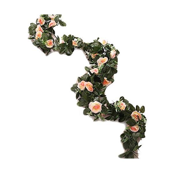 MARJON-FlowersArtificial-Silk-Vine-Flower-Fake-Hanging-Garland-DIY-Peony-Flower-Wreath-Headband-Floral-Crown-Home-Outdoor-Wedding-Arch-Garden-Wall-DcorChampagne2-Pieces