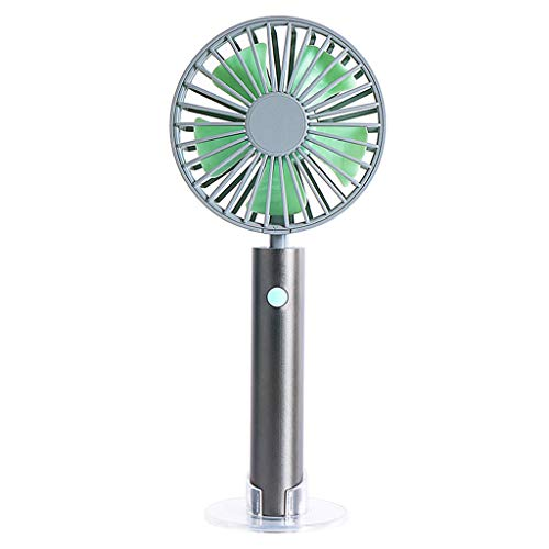 (Cardigo New Portable Handheld Fan USB Rechargeable Hand Hold Fan Standable Mini Fans)